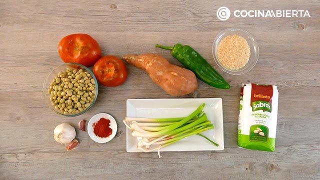 Arroz con habichuelas, un plato típico de la cocina murciana - Ingredientes