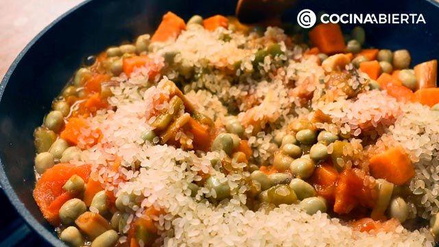Arroz con habichuelas, un plato típico de la cocina murciana - Paso 6