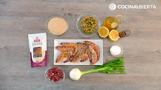 Ensalada de quinoa y gambas: ¡una receta fresca y nutritiva rica en proteínas! - Ingredientes