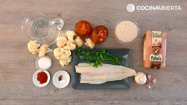 Arroz con bacalao y coliflor - Ingredientes