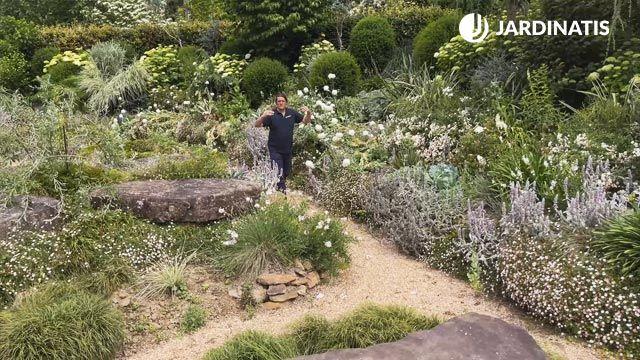Jardín blanco y gris de Lur Garden