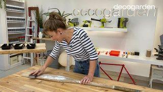 Cómo pintar un remo de madera - Paso 1