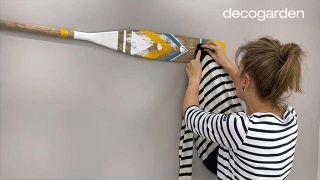 Cómo pintar un remo de madera: ¡El artículo marinero perfecto para decorar al estilo náutico!
