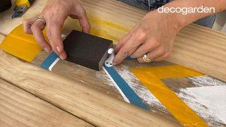 Cómo pintar un remo de madera - Paso 9