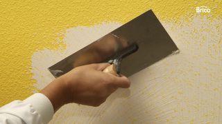 Cubrir el gotelé con masilla