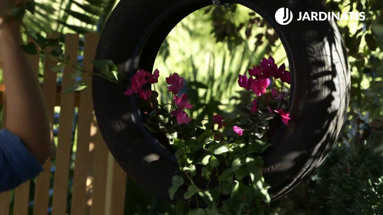 Jardineras con neumáticos