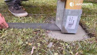 Cómo instalar una pérgola de madera en Kit - Paso 3
