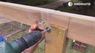 Cómo instalar una pérgola de madera en Kit - Paso 5