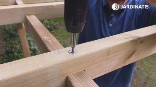 Cómo instalar una pérgola de madera en Kit - Paso 8