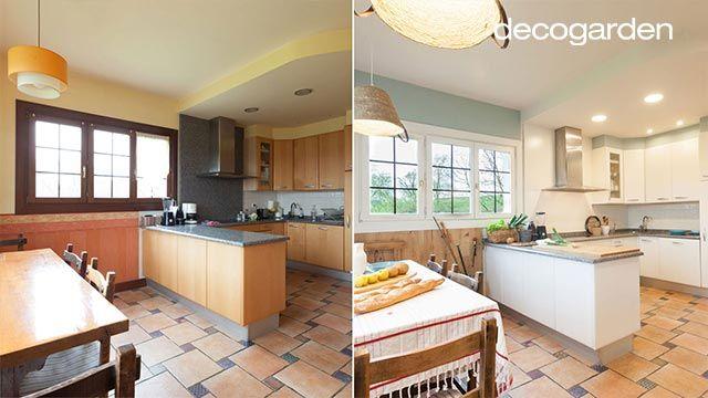 Cómo pintar los armarios de la cocina de blanco - Antes y después