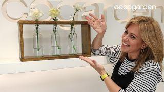 Cómo hacer un florero de madera DIY con botellas de vidrio recicladas