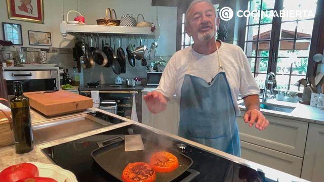 Bonito a la plancha con tomate asado