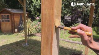 Mantenimiento de la pérgola de madera en Kit de Nortene