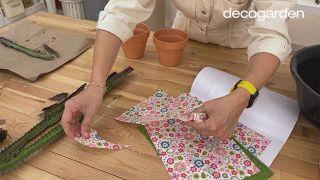 Decorar las macetas con decoupage - Paso 1