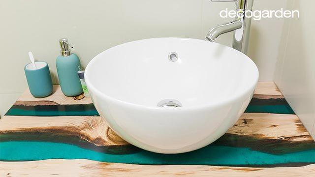 Encimera de baño hecha con resina epoxi