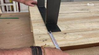 hacer una mesa alta con palets paso 2