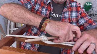 arreglar silla madera reforzar con cuerdas 2