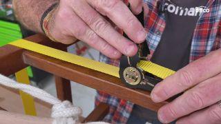 arreglar silla madera reforzar con carraca