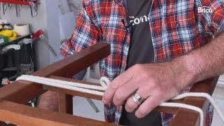 arreglar silla madera reforzar con cuerdas