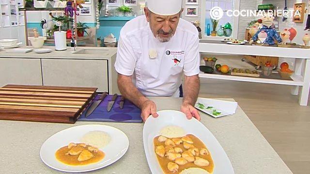 Chipirones en salsa de cebolla con arroz: la receta de la abuela al estilo Karlos Arguiñano - paso 6