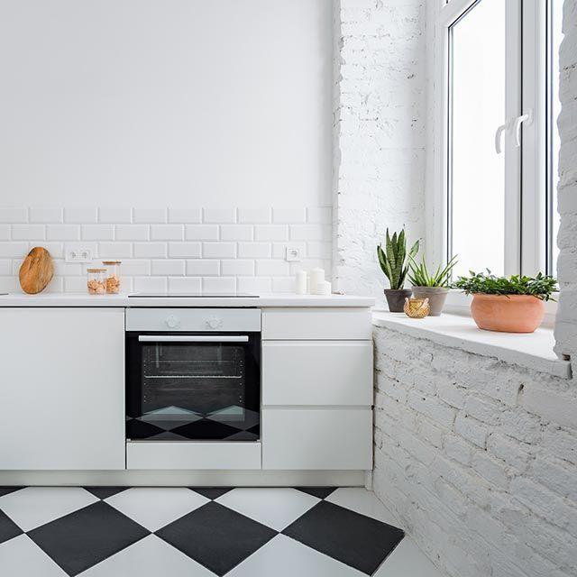 Cocina blanca pequeña