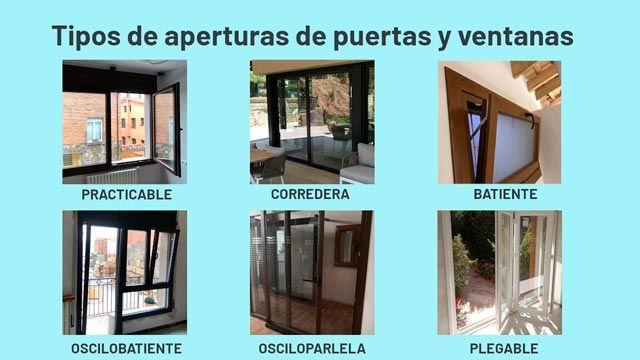 Tipos de puertas para terrazas y balcones