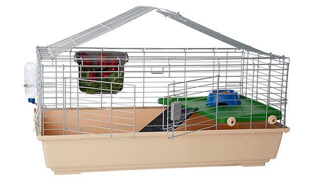 Jaula básica para conejos (Amazon)