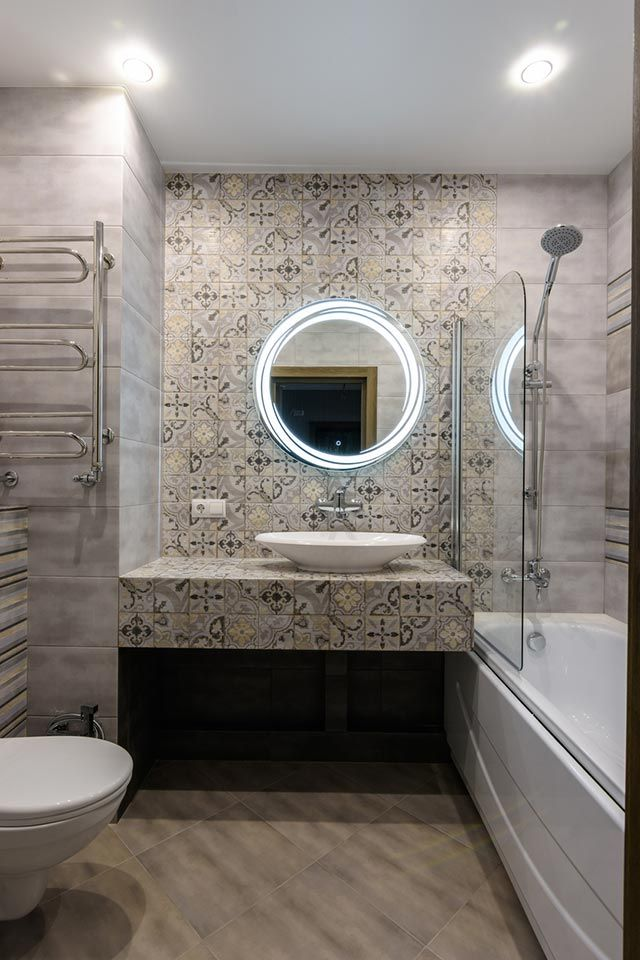 Baldosas hidráulicas con mosaicos para la pared