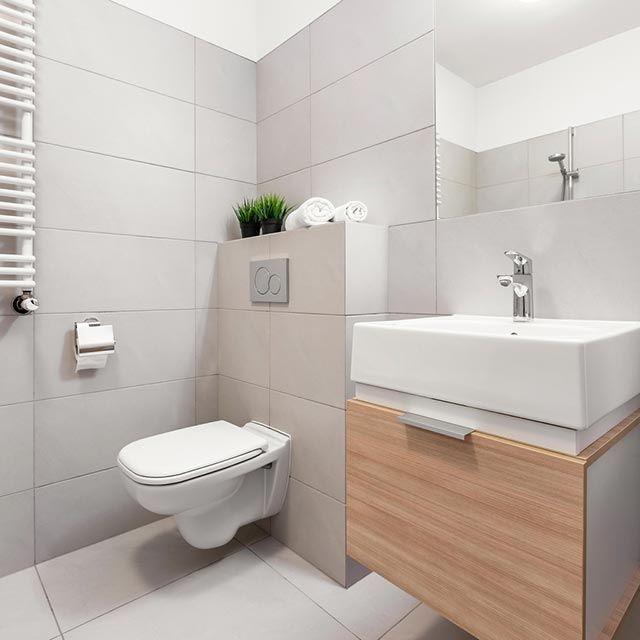 Suelos mate para baños modernos