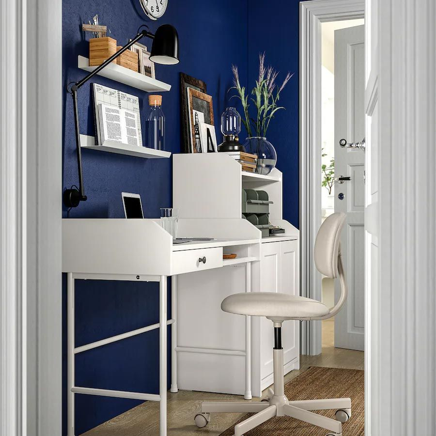 Mueble escritorio HAUGA y silla BLECKBERGET