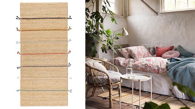 Alfombra RAKLEV de Ikea para un dormitorio adolescente