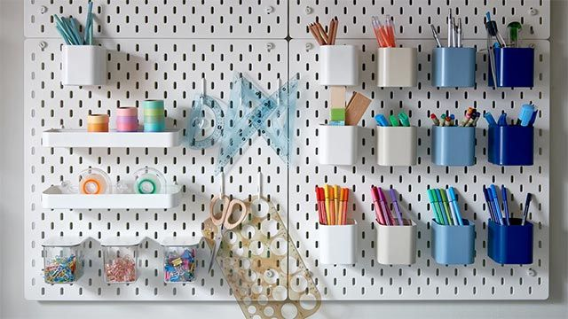 Tablero perforado SKÅDIS de Ikea