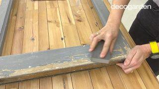Cómo hacer una pizarra organizadora DIY reciclando una ventana - Paso 1