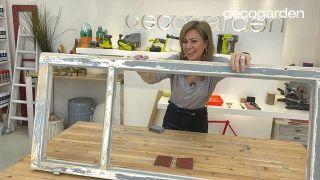 Cómo hacer una pizarra organizadora DIY reciclando una ventana - Paso 3