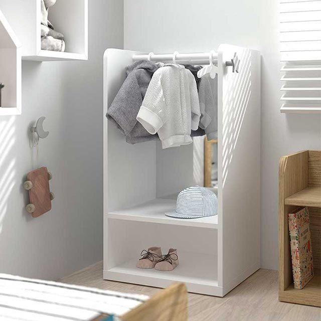 Armario ropero con espejo Montessori de Bebé y decoración
