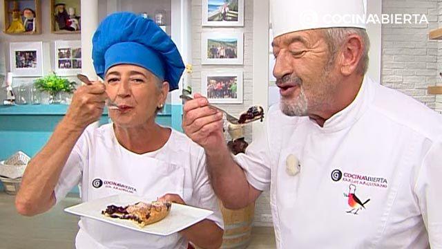 La tarta de arándanos americana de Eva Arguiñano irresistible para Karlos Arguiñano