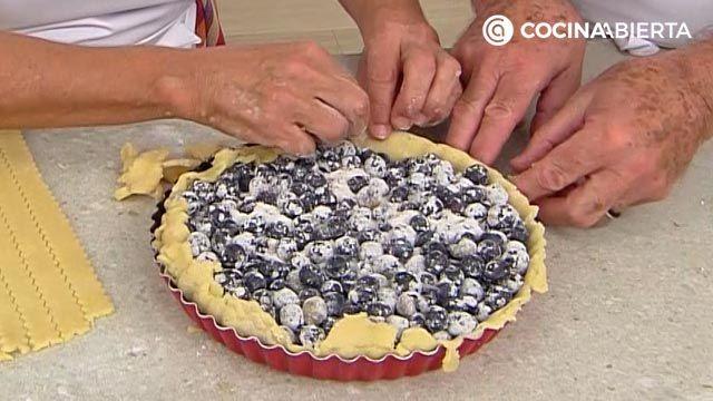 Tarta de arándanos americana (con masa quebrada casera): ¡la receta más fácil de Eva Arguiñano! - paso 4