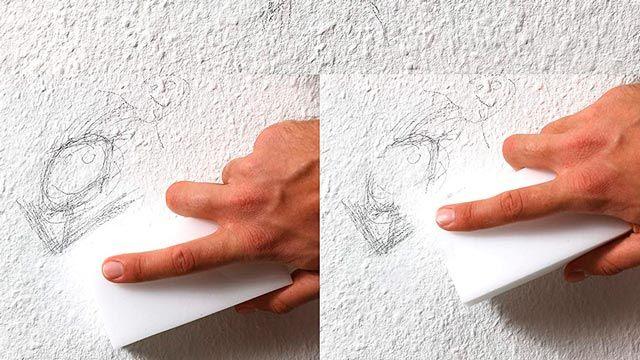 Usos domésticos del borrador mágico: limpieza de paredes