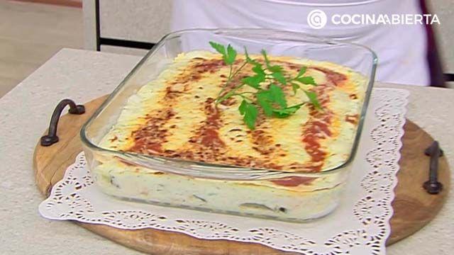 Lasaña de verduras con queso
