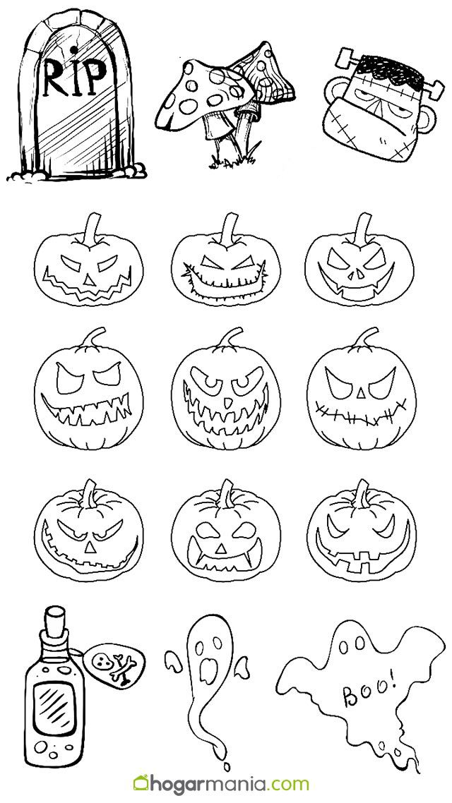 Dibujos de Halloween para inspirarte