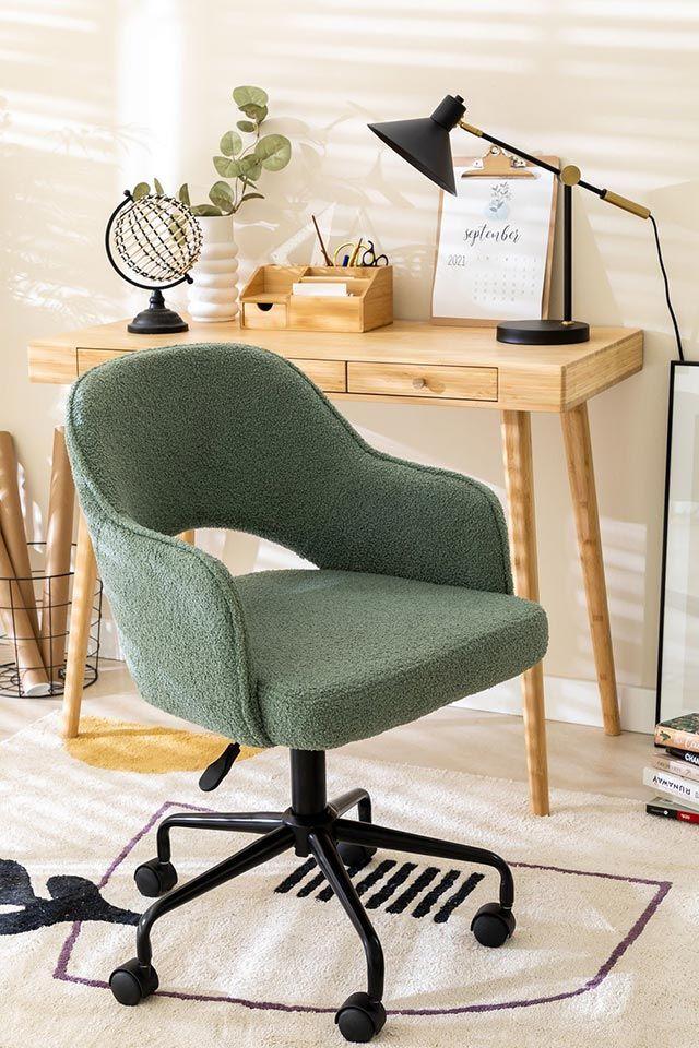 Silla de escritorio Wanda en color verde de Sklum