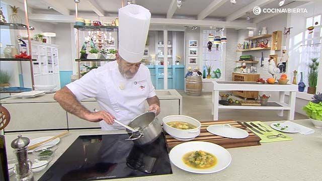 Sopa de acelgas y calabaza al curry por Karlos Arguiñaño - paso 4