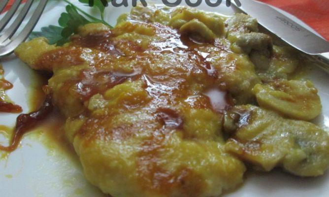 Filetes de Pollo en Salsa de Champiñones Pechugas de Pollo en Salsa