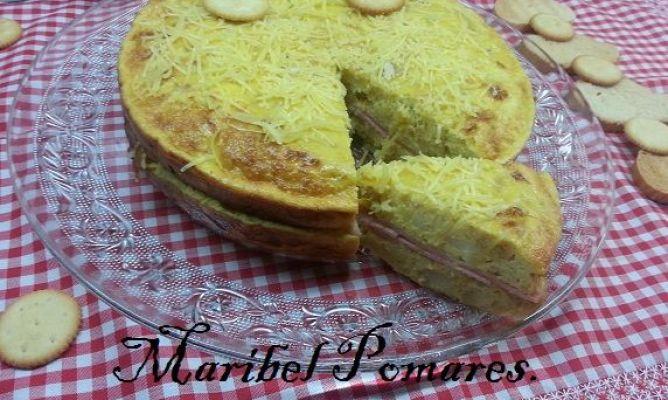 Tortilla de patata cebolla calabacin rellena de jam n - Tortilla de calabacin y cebolla ...