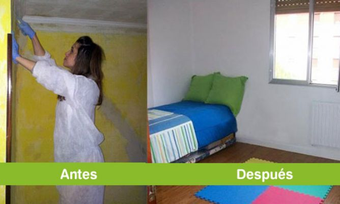 Pintar habitaci n quitando el papel pintado en la for Quitar papel pintado
