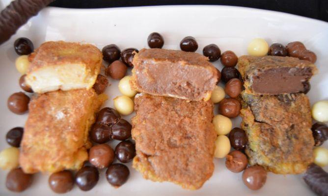 Leche frita a los tres chocolates en la Comunidad de Cocina