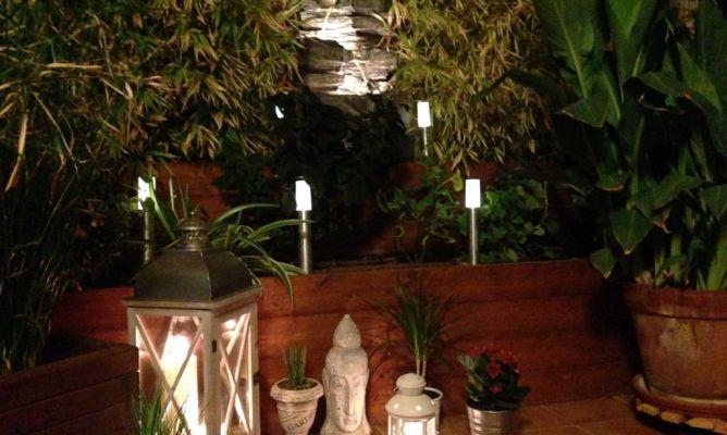Un rinc n del jard n de noche en la comunidad de - Hogarmania jardineria ...