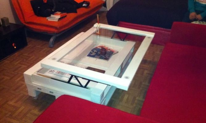 Mesa abatible de palets en la comunidad de decoraci n for Mesa de salon abatible