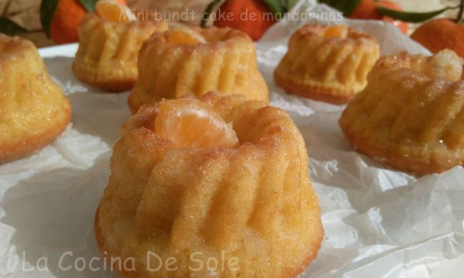 Mini Bundt cake de mandarinas