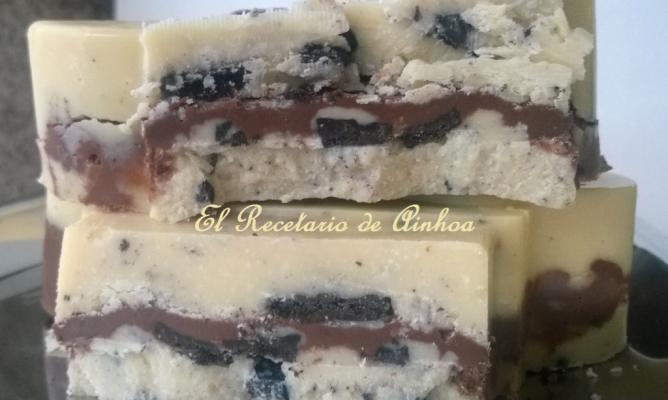 Baño Blanco Para Galletas:Turrón de chocolate blanco y galletas oreo en la Comunidad de Cocina